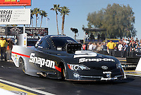 Feb. 22, 2013; Chandler, AZ, USA; NHRA funny car driver Cruz Pedregon during qualifying for the Arizona Nationals at Firebird International Raceway. Mandatory Credit: Mark J. Rebilas-