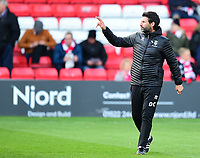 Lincoln City manager Danny Cowley during the pre-match warm-up<br /> <br /> Photographer Andrew Vaughan/CameraSport<br /> <br /> The EFL Sky Bet League Two - Lincoln City v Forest Green Rovers - Saturday 3rd November 2018 - Sincil Bank - Lincoln<br /> <br /> World Copyright © 2018 CameraSport. All rights reserved. 43 Linden Ave. Countesthorpe. Leicester. England. LE8 5PG - Tel: +44 (0) 116 277 4147 - admin@camerasport.com - www.camerasport.com
