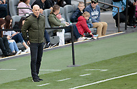 LOS ANGELES, CA - MARCH 01: Bob Bradley head coach of LAFC during a game between Inter Miami CF and Los Angeles FC at Banc of California Stadium on March 01, 2020 in Los Angeles, California.
