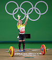 Hiromi Miyake (JPN), AUGUST 6, 2016 - Weightlifting : Hiromi Miyake of Japan celebrates after competing in the Women's 48kg during the Rio 2016 Olympic Games at Riocentro Pavilion 2 in Rio de Janeiro, Brazil. (Photo by Enrico Calderoni/AFLO SPORT)