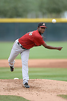 Arizona Diamondbacks pitcher Merkis Montero (17) during an Instructional League game against the Los Angeles Angels on October 7, 2014 at Salt River Fields at Talking Stick in Scottsdale, Arizona.  (Mike Janes/Four Seam Images)