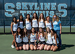 5-8-17, Skyline High School girl's varsity tennis team