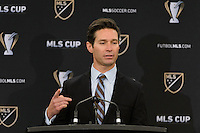 Toronto, ON, Canada - Friday Dec. 09, 2016: MLS executive vice president, communications Dan Courtmanche during the State of the League Address at the InterContinental Hotel.