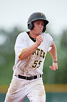GCL Pirates second baseman Matt Morrow (55) runs the bases during the second game of a doubleheader against the GCL Yankees East on July 31, 2018 at Pirate City Complex in Bradenton, Florida.  GCL Pirates defeated GCL Yankees East 12-4.  (Mike Janes/Four Seam Images)