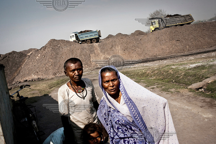Residents near the Jharia coal mines suffer from the dust and pollution created by these operations.