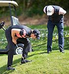 Daniel Pearce checks if his ball is still moving. Jennian Homes Charles Tour, Carrus Open, Tauranga Golf Club, Tauranga, New Zealand, Thursday 10 October 2019. Photo John Borren/www.bwmedia.co.nz