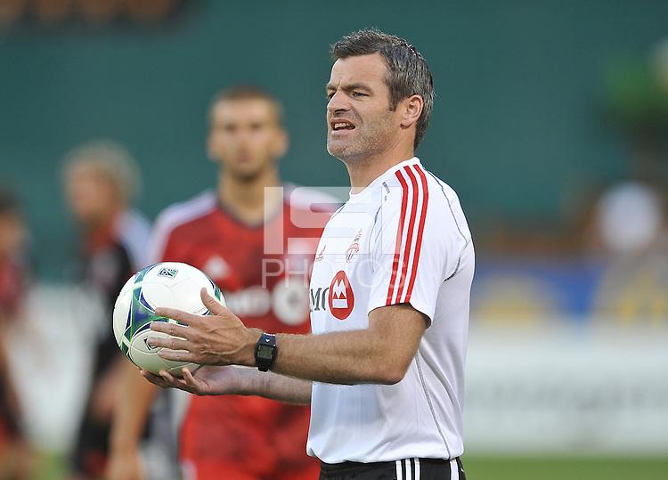 Toronto FC head coach Ryan Nelsen. Toronto FC defeated D.C. United 2-1, at RFK Stadium, Saturday June 15 , 2013.