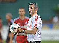 Toronto FC head coach Ryan Nelsen. Toronto FC defeated D.C. United 2-1, at RFK Stadium, Saturday June 15 , 2013.