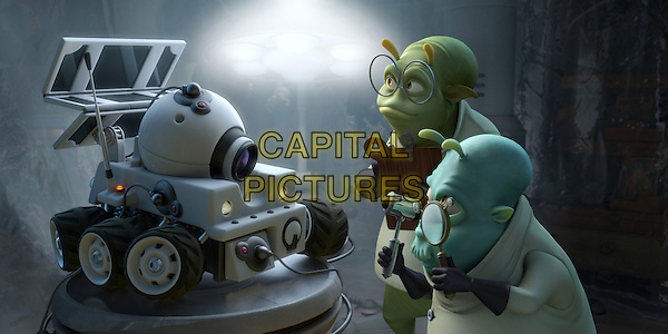 "SCENE - ""Rover"" with two doctors.in Planet 51 .*Filmstill - Editorial Use Only*.CAP/FB.Supplied by Capital Pictures."