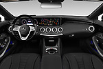 Stock photo of straight dashboard view of 2019 Mercedes Benz S-Class - 2 Door Convertible Dashboard