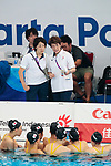 Japan team group (JPN), <br /> AUGUST 29, 2018 - Artistic Swimming : <br /> Women's Team Free Routine <br /> at Gelora Bung Karno Aquatic Center <br /> during the 2018 Jakarta Palembang Asian Games <br /> in Jakarta, Indonesia. <br /> (Photo by Naoki Morita/AFLO SPORT)