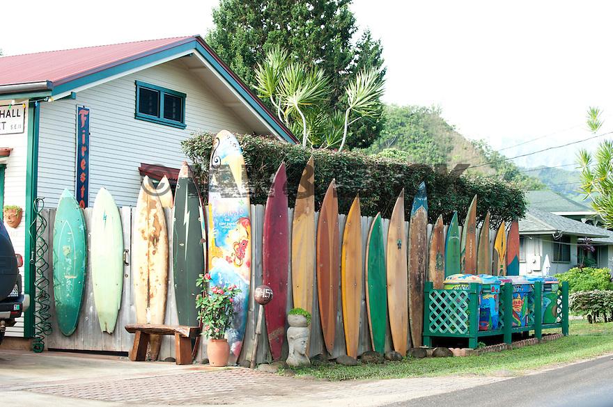 Shop in Hanalei Bay on Kauai in Hawaii
