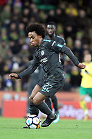 Willian of Chelsea runs with the ball during Norwich City vs Chelsea, Emirates FA Cup Football at Carrow Road on 6th January 2018