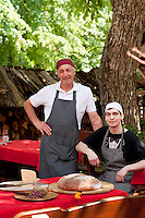 Father and son, Matjai and Matic Peternel, chefs at Gacnk v Logu, in Cerkno, Slovenia (location for lunch on day 4)