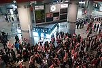 Picket line at Atocha. Madrid.(ALTERPHOTOS/Muñoz Alconada)