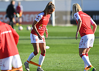 20200310  Lagos , Portugal : Danish forward Frederikke Skjodt Thogersen  (15) pictured during warming up of the female football game between the national teams of Belgium called the Red Flames and Denmark on the third and last matchday for the 5th or 6th place of the Algarve Cup 2020 , a prestigious friendly womensoccer tournament in Portugal , on tuesday 10 th March 2020 in Lagos , Portugal . PHOTO SPORTPIX.BE | DAVID CATRY
