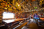 An interior view of Salty Dawg Saloon on the Homer Spit in Kachemak Bay, Kenai Peninsula, Southcentral Alaska.