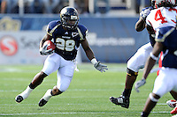 9 October 2010:  FIU running back Darriet Perry (28) carries the ball in the first quarter as the FIU Golden Panthers defeated the Western Kentucky Hilltoppers, 28-21, at FIU Stadium in Miami, Florida.
