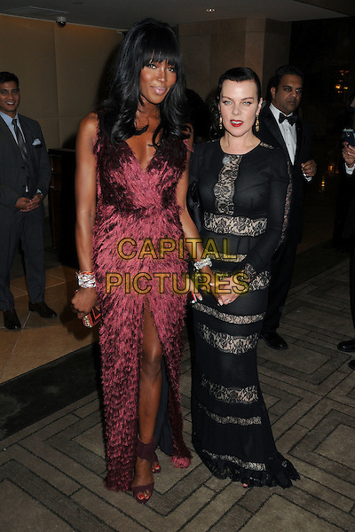 11 January 2015 - Beverly Hills, California - Naomi Campbell, Debi Mazar. 72nd Annual Golden Globe Awards - Exits held at the Beverly Hilton Hotel. <br /> CAP/ADM/BP<br /> &copy;BP/ADM/Capital Pictures