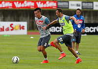 ritiro precampionato Napoli Calcio a  Dimaro 26 Luglio 2014<br /> <br /> Preseason summer training of Italy soccer team  SSC Napoli  in Dimaro Italy July 26, 2014