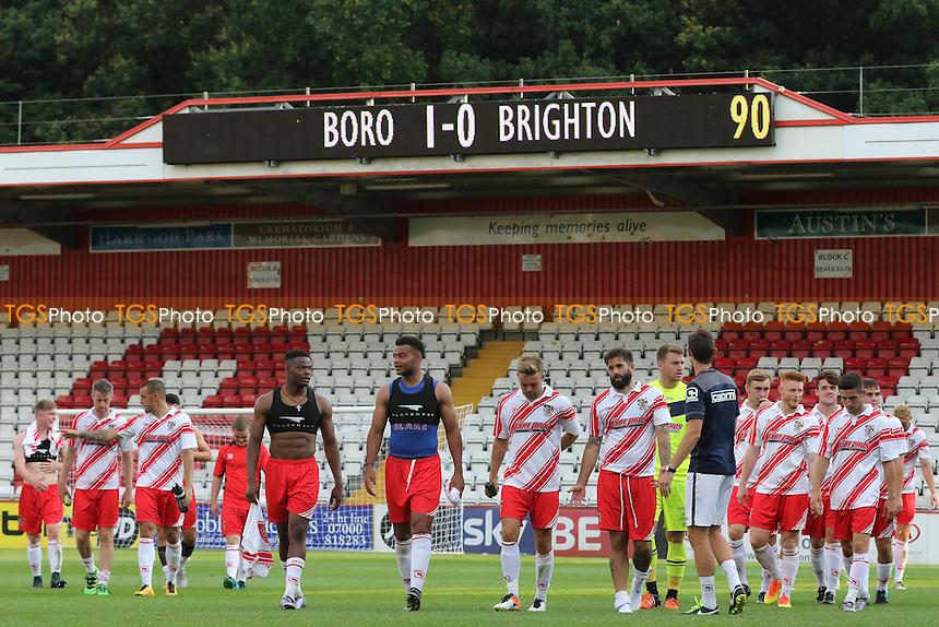 Stevenage players head to the dressing room at the final whistle during Stevenage vs Brighton and Hove Albion, Friendly Match Football at the Lamex Stadium on 23rd July 2016