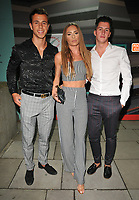 James Middleton, Georgie Clarke and Callum Pardoe at the Mark Hill haircare brand launch party ahead of the International Woman's Day, MV Hispaniola, Victoria Embankment, London, England, UK, on Wednesday 07 March 2018.<br /> CAP/CAN<br /> &copy;CAN/Capital Pictures