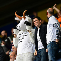 A Reading fan, dressed as a goat, celebrates after Reading's Sam Baldock had scored the opening goal<br /> <br /> Photographer Chris Vaughan/CameraSport<br /> <br /> The EFL Sky Bet Championship - Preston North End v Reading - Saturday 15th September 2018 - Deepdale - Preston<br /> <br /> World Copyright &copy; 2018 CameraSport. All rights reserved. 43 Linden Ave. Countesthorpe. Leicester. England. LE8 5PG - Tel: +44 (0) 116 277 4147 - admin@camerasport.com - www.camerasport.com