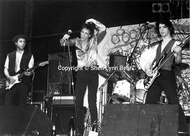 Richard Hell and the Voidoids onstage at the Palladium in NYC, May 1978