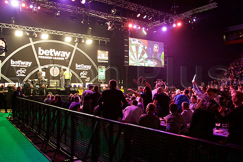 2.04.2015.  Manchester, England. Betway Premier League Darts. Judgement Night.