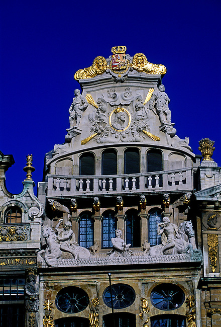 Guild House, The Horn, Le Cornet, Boatmens, Grand Place, city of Brussels, Brussels Capital Region, Belgium, Europe