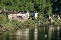 Wales, Tintern Village and the River Wye.