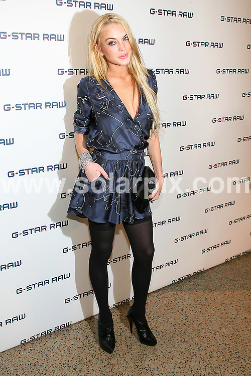 **ALL ROUND PICTURES FROM SOLARPIX.COM**.**SYNDICATION RIGHTS FOR UK, AUSTRALIA, DENMARK, PORTUGAL, S. AFRICA, SPAIN & DUBAI (U.A.E) ONLY**.arrivals for the G-Star Raw NY Raw Collection as part of Mercedes-Benz Fashion Week Spring/Summer 2010. Held at the Hammerstein Ballroom, New York City, NY, USA. 15 September 2009..This pic: Lindsay Lohan..JOB REF: 9951 PHZ (Gaboury)   DATE: 15_09_2009.**MUST CREDIT SOLARPIX.COM OR DOUBLE FEE WILL BE CHARGED**.**MUST NOTIFY SOLARPIX OF ONLINE USAGE**.**CALL US ON: +34 952 811 768 or LOW RATE FROM UK 0844 617 7637**