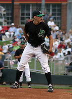 August 30, 2003:  Thomas Pauly of the Dayton Dragons during a game at Fifth Third Field in Dayton, Ohio.  Photo by:  Mike Janes/Four Seam Images