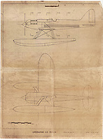 BNPS.co.uk (01202 558833)<br /> Pic: WilliamHosie/BNPS<br /> <br /> Original blueprints from R.J.Mitchell's record breaking S.5..<br /> <br /> British pilot William Hosie is attempting to build a working replica of the historic S.5 Schneider trophy seaplane, 33 years after his father was killed in an identical aircraft.<br /> <br /> William Hosie, 58, needs to raise £275,000 to construct a unique Supermarine S.5 from scratch, using the original blueprints of the famous aircraft designed by R.J.Mitchelll in the 1920's.<br /> <br /> The project has an added poignancy as his father, Bill Hosie, perished aged 57 flying an identical S.5 replica he'd built over Mylor, Cornwall, in May 1987.<br /> <br /> Once complete, William hopes to fly the unique seaplane at airshows as a reminder of Britain's proud history from the pioneering days of aircraft and as a tribute to his late father.<br /> <br /> The Supermarine S.5 won the prestigious Schneider Trophy in Venice in 1927 with a speed of 281mph. If Will, from Taunton, Somerset, succeeds, his will be the only working Supermarine S5 in the world.