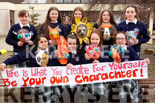 Presentation School Tralee are holding a  &ldquo;Life is what you create for yourself&rdquo;, be your own character&rdquo; theme during the Literary week events been held in the school. Front l-r, Rahgla Llie, Megan O&rsquo;Sullivan, Alisa Must and Kerry O&rsquo;Connor.<br /> Back l-r, Sadhbh Malloy, Eimear Murphy, Caoimhe Leahy, Trina Moriarty Flynn and Rebecca O&rsquo;Sullivan.