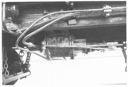 Detail photo of the tender brake cylinder of D&amp;RGW #278 displayed at Montrose.<br /> D&amp;RGW  Montrose, CO  Taken by Morris, Kelly
