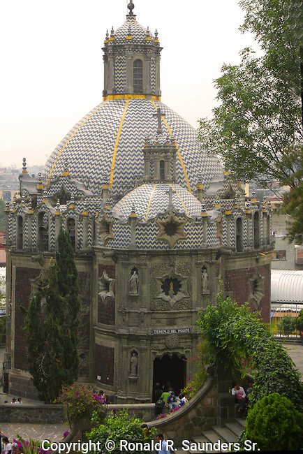 TEMPLE POCITO is a SMALL CHURCH  and GARDEN on the GROUNDS of the BASILICA de GUADALUPE