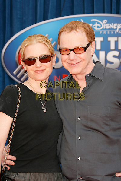 "BRIDGET FONDA & DANNY ELFMAN.Attending the ""Meet The Robinsons"" Los Angeles Premiere held at the El Capitan Theatre, Hollywood, California, USA, 25 March 2007..half length sunglasses married husband wife.CAP/ADM/RE.©Russ Elliot/AdMedia/Capital Pictures."
