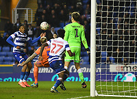 25th January 2020; Madejski Stadium, Reading, Berkshire, England; English FA Cup Football, Reading versus Cardiff City; Aden Flint of Cardiff City attempts a shot at goal