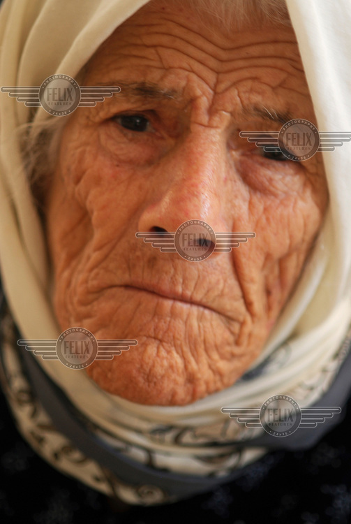 100 year old Soubheya Mousselman was displaced by 34 days of conflict between Israel and Hezbollah (Hizbollah). One of her daughters was killed, and she was forced to sleep on the floor in Haji Maryam school.