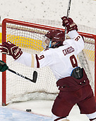 Austin Cangelosi (BC - 9) - The Boston College Eagles defeated the University of Vermont Catamounts 7-4 on Saturday, March 11, 2017, at Kelley Rink to sweep their Hockey East quarterfinal series.The Boston College Eagles defeated the University of Vermont Catamounts 7-4 on Saturday, March 11, 2017, at Kelley Rink to sweep their Hockey East quarterfinal series.