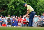 28th May 2017, Fort Worth, Texas, USA; Jordan Spieth putts on #8 during the final round of the PGA Dean & Deluca Invitational at Colonial Country Club in Fort Worth, TX.