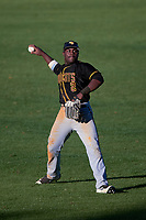 Bethune-Cookman Wildcats left fielder Rakeem Quinn (2) during a game against the Wisconsin-Milwaukee Panthers on February 26, 2016 at Chain of Lakes Stadium in Winter Haven, Florida.  Wisconsin-Milwaukee defeated Bethune-Cookman 11-0.  (Mike Janes/Four Seam Images)