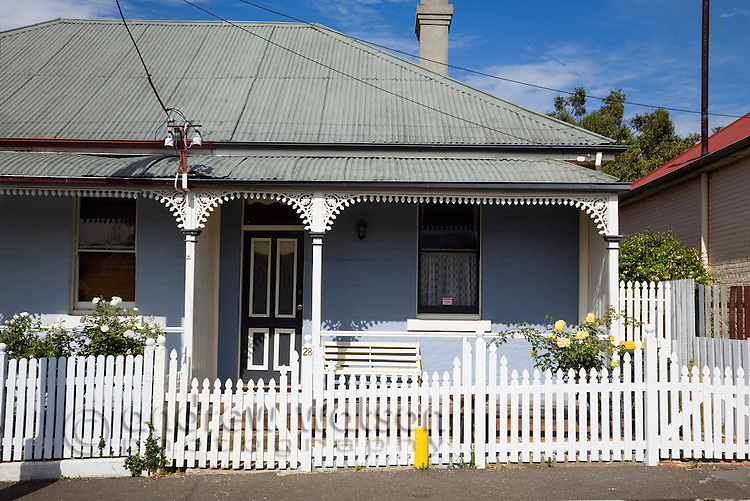 19th century cottage in historic Battery Point - a maritime village on Sullivans Cove.  Hobart, Tasmania, AUSTRALIA