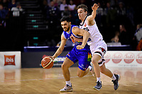 Saints' Shea Ili and Rams' Taylor Britt in action during the NBL- Cigna Saints v Rams at TSB Arena,  Wellington, New Zealand on Sunday 23 June 2019. <br /> Photo by Masanori Udagawa. <br /> www.photowellington.photoshelter.com