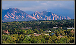 Panorama Point provide views north to the Boulder Flatirons.<br />