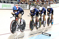 CAMBRIDGE, NEW ZEALAND - JANUARY 18: USA compete in the Men's Team Pursuit UCI TRACK CYCLING WC 2019 Cambridge