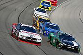 #22: Paul Menard, Team Penske, Ford Mustang Discount Tire and #18: Daniel Suarez, Joe Gibbs Racing, Toyota Camry Juniper Networks