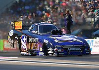 Oct 18, 2015; Ennis, TX, USA; NHRA funny car driver Jack Beckman during the Fall Nationals at Texas Motorplex. Mandatory Credit: Mark J. Rebilas-USA TODAY Sports
