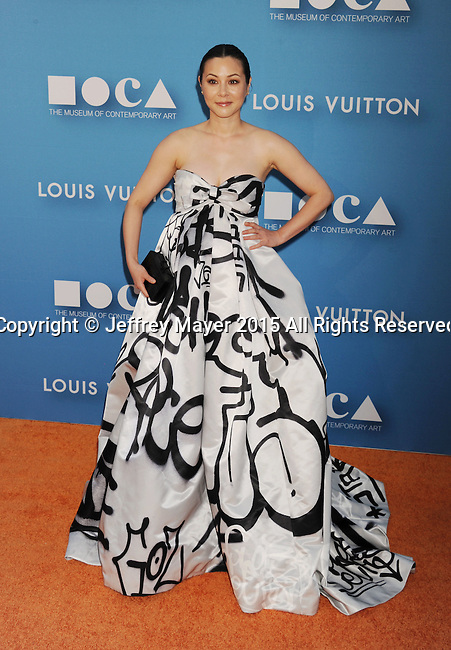 LOS ANGELES, CA - MAY 30: Actress China Chow arrives at the 2015 MOCA Gala presented by Louis Vuitton at The Geffen Contemporary at MOCA on May 30, 2015 in Los Angeles, California.